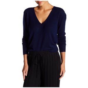 Theory Navy Blue Adrianna Cashmere Sweater J671